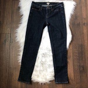 J. Crew Skinny Ankle Dark Wash Jeans